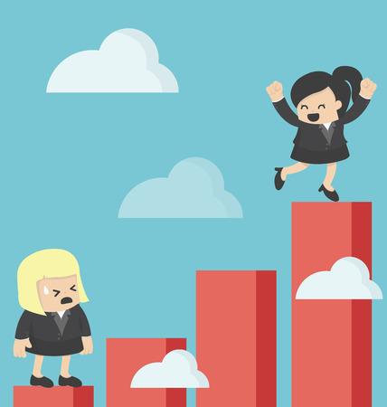 Business Woman Increase profit Çizim