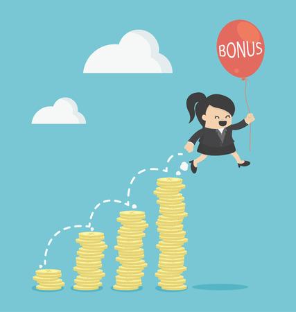 bonus: bonus of Business Woman
