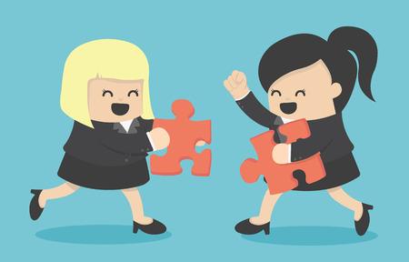 Les partenaires commerciaux bâtir une entreprise Illustration