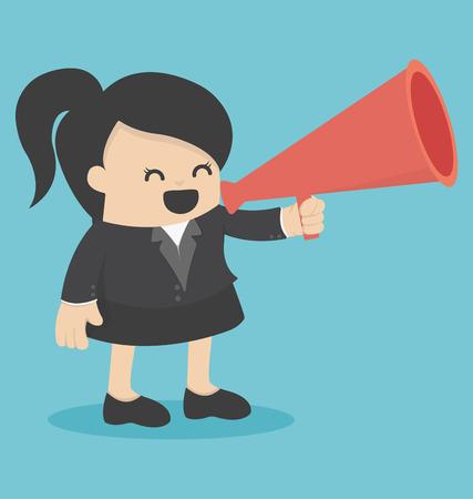 businesswoman announced Stock Illustratie