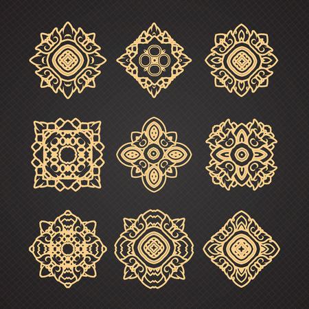 thai art: Vector set of thai art design