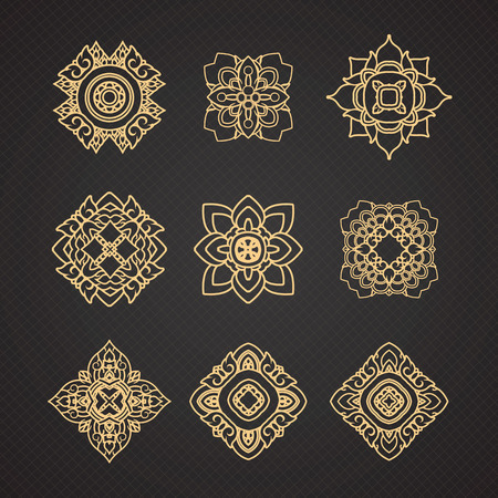 thai style: Vector set of thai art design