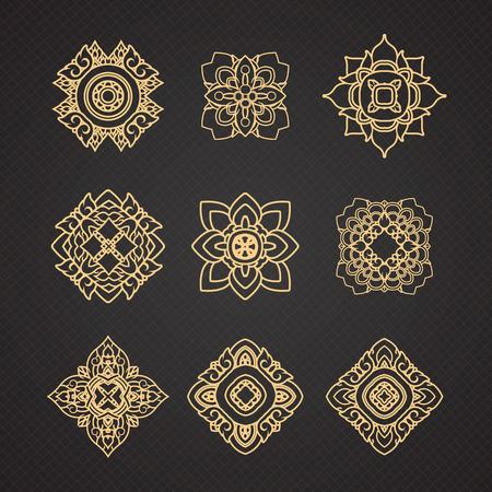 Vector set van Thaise art design Stockfoto - 44310252
