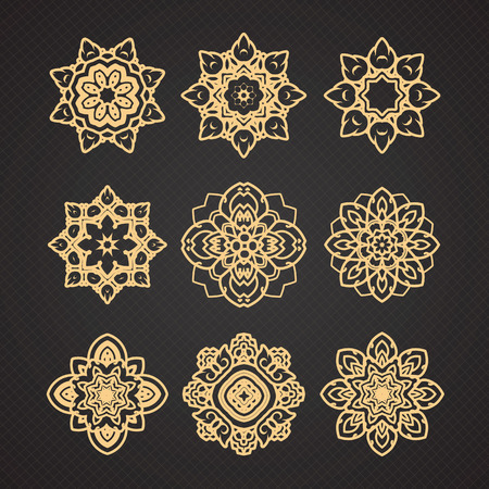 thai decor: Vector set of thai art design