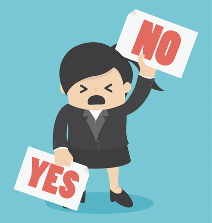 yes or no: Cartoons concepts yes or no Illustration