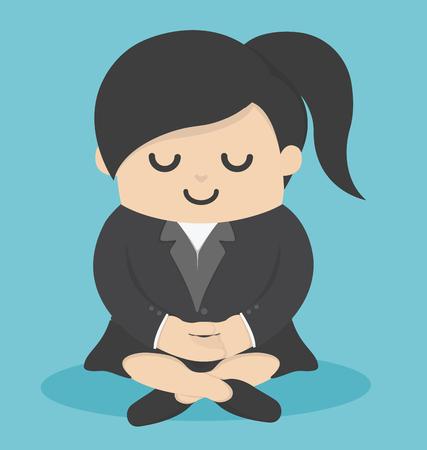 Femme d'affaires Calme méditer