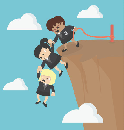 Business Team Work for Success Illustration