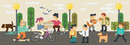 Estilos de Vida Tiempo libre Elementos ilustración Ilustración de vector