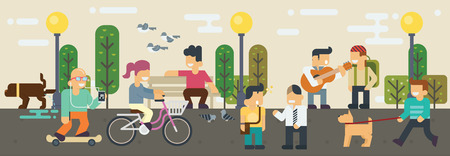 at leisure: Lifestyle Free time  Elements illustration