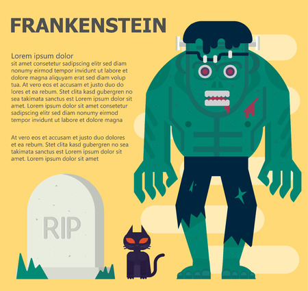horror: Frankenstein  illustration Illustration