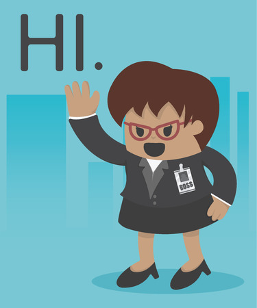 manager: Manager business woman Illustration Illustration