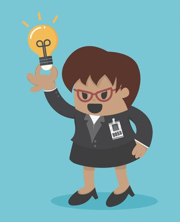big woman: business woman big boss get an idea