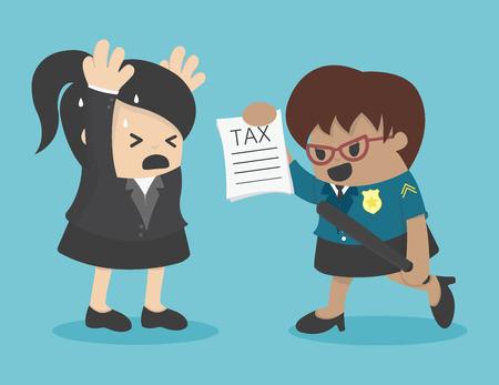 femme d'affaires d'évasion fiscale