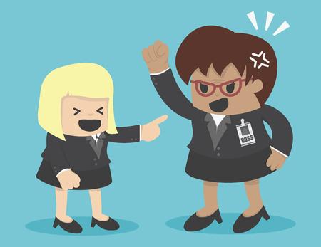 parody: Parody Businesswoman aging Illustration