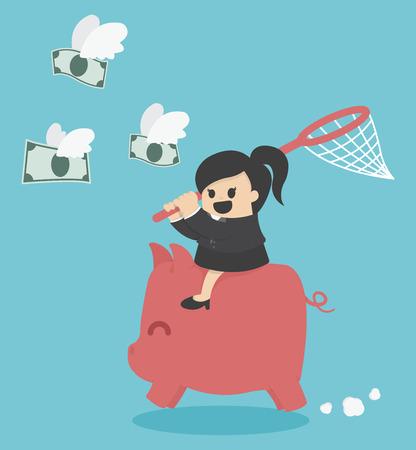 chasing: Chasing Dollars Illustration