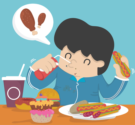 overeating: Gluttony, Eating too much fat