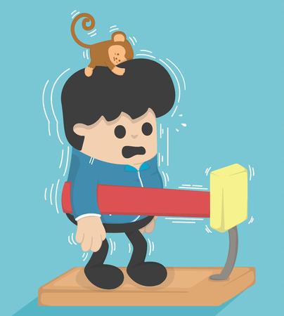 weight machine: Cartoon exercises,Machine weight