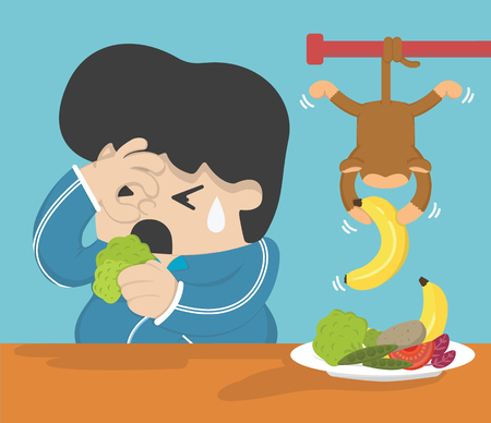 starve: Concept of weight loss , Starve that are high in protein