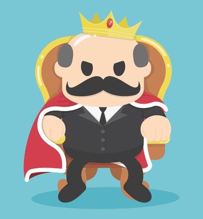 sarcastic: A successful Businessman King sitting