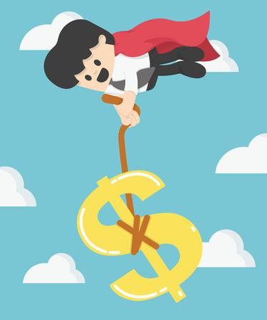 Super affari che tira il segno del dollaro non lasciare che la caduta di denaro