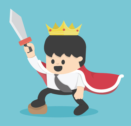 king master: king cartoon businessman Illustration