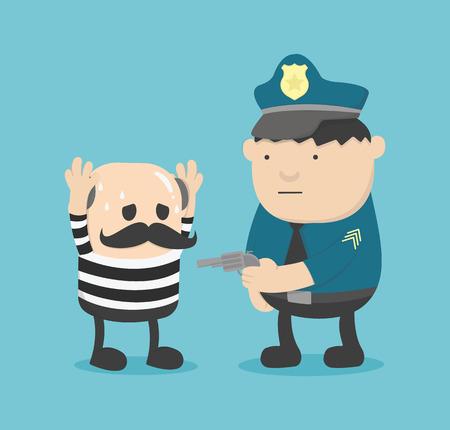 detained: arrested Illustration