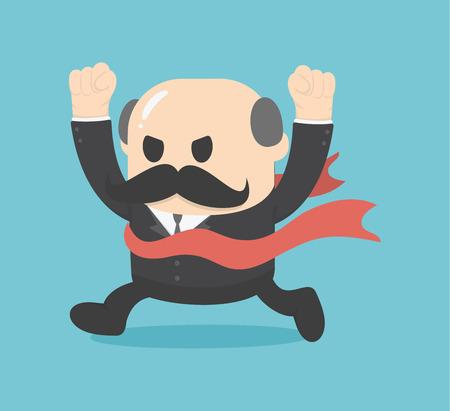 Businessman victory Illustration