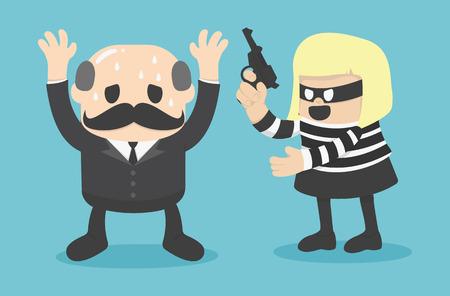 plunder: robbing Illustration