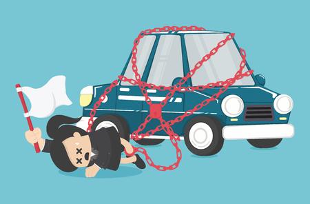 Concept business has debts of his new car