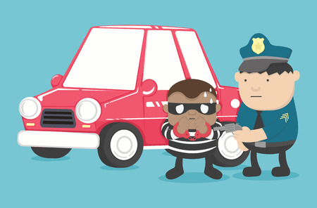 motor vehicle theft Illustration