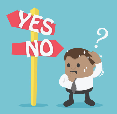 Signs Option yes or no Illustration