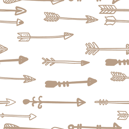 pattern geometric: arrows seamless vector pattern background illustration Hand drawn Illustration