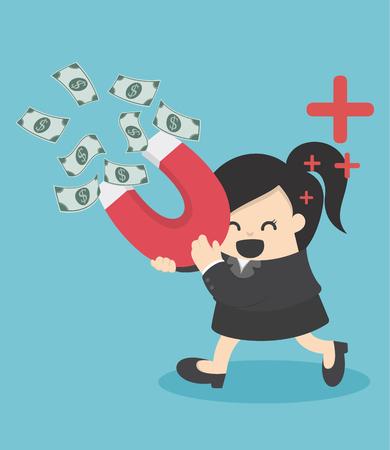 Affaires attire l'argent avec un gros aimant