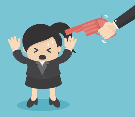 Point d'arme à la tête d'affaires