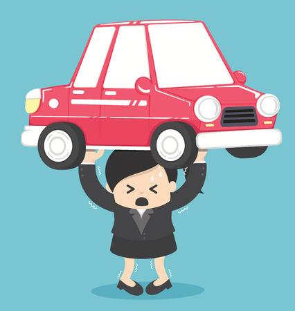 Concept Femme De la dette voiture