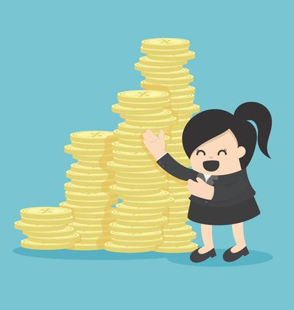 Femme d'affaires Offre d'investissement en argent