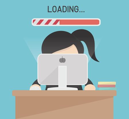 Vecteur de connexion informatique lente Illustration