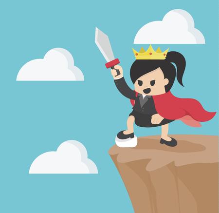 Reine des affaires Au sommet de la monture Illustration