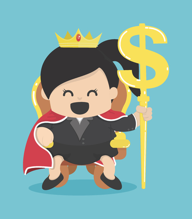 wealth management: Queen of Business with silver symbol