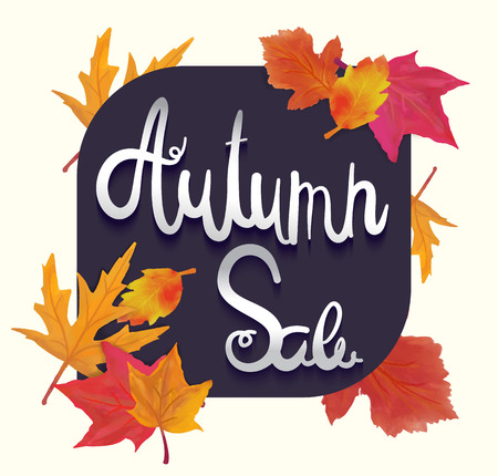 Poster for autumn sale