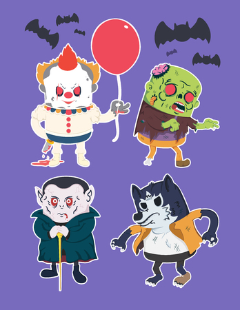 Vintage Halloween character design