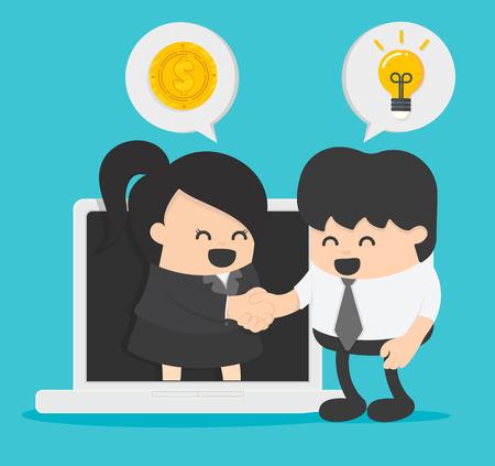 Concept Businessman business people communication