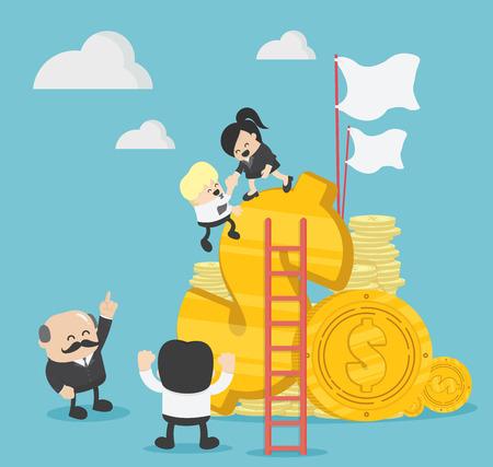 Business team of Successful Profits Banque d'images - 114950620