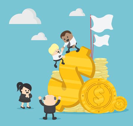 illustration businessman's teamwork Banque d'images - 111976602