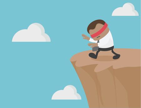 Afrikaanse bedrijven zijn geblinddoekt. weg naar de klif. Oplichting en uitbuiting van anderen