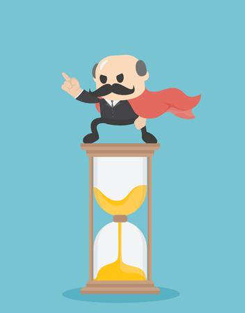 Businessman Time Management. Business Concept Cartoon Illustration Banque d'images - 111905887