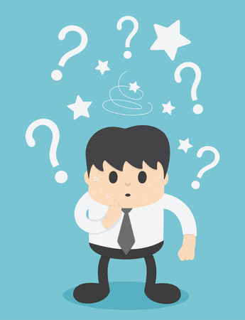 Businessmen are confused and have question marks. Banque d'images - 111660189
