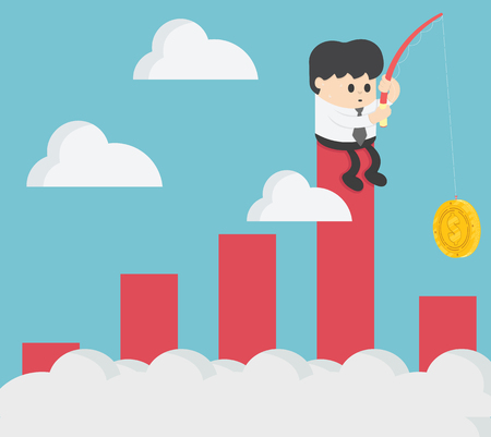Business concept vector illustration. Chart Falling