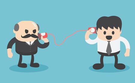 Communication between business people Illustration