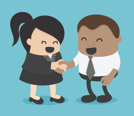 Les femmes d'affaires et les hommes d'affaires africains se donnent la main